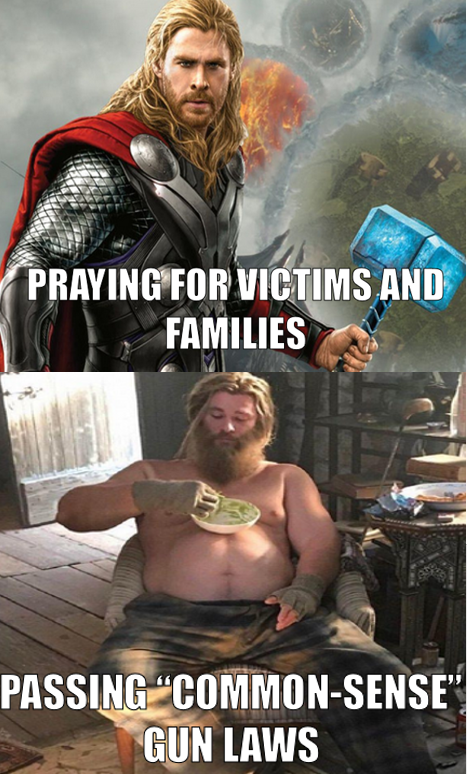 """My Thoughts and Prayers > Your """"Common-Sense"""" Gun Laws"""
